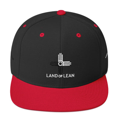 Land of Lean Snapback Hat - Green Under Visor - (White & Black Zia)