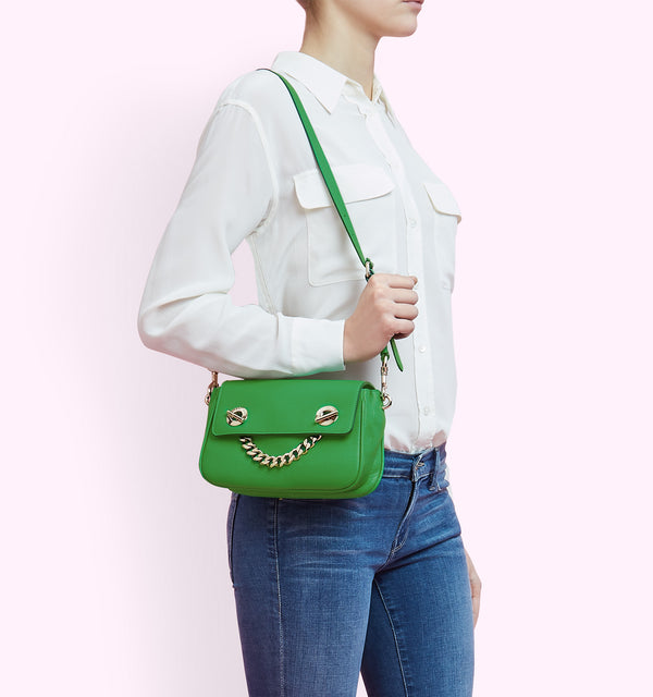 Hill & Friends Pickle Green Chain Smile Creature Bag