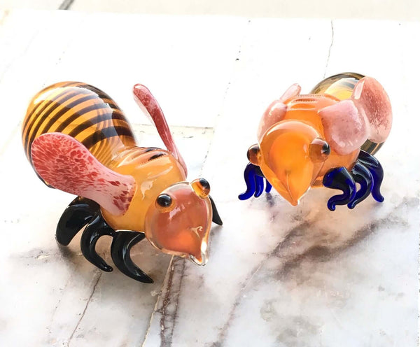 custom glass pipe bee