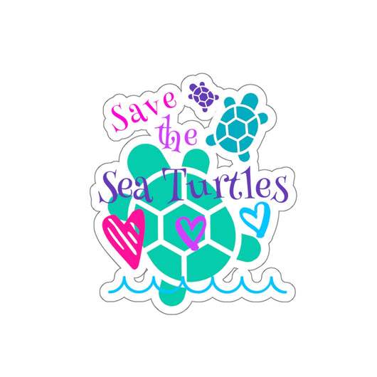 Save the Sea Turtles Stickers