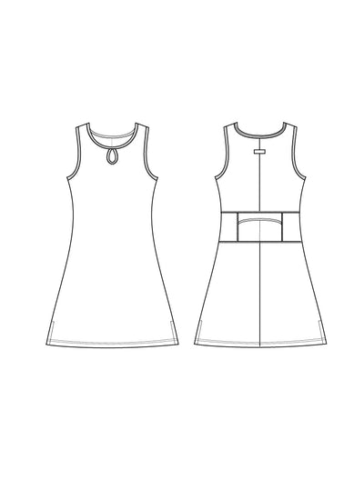 Sundae Ruu-Muu pocket exercise dress, running dress, travel dress, athletic dress