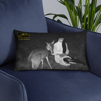 Bashful by Crystal Dean Pillow