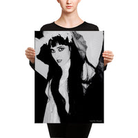 Kimberly in Black and White by Crystal Dean Canvas - 18×24
