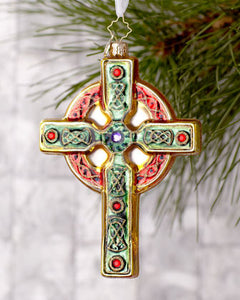 Radko Celtic Christmas cross ornament