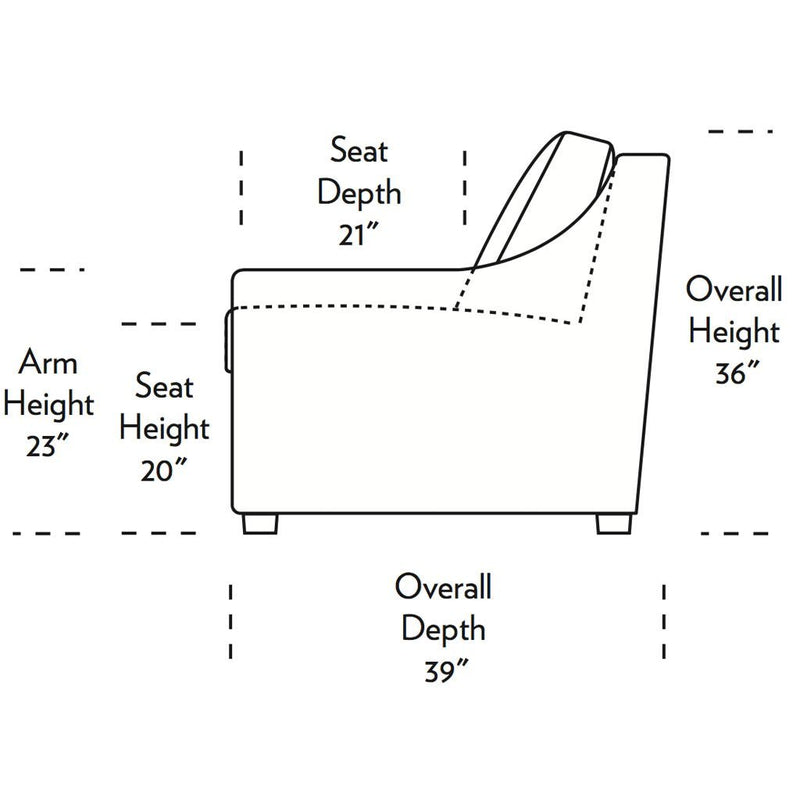Perry Comfort Sleeper Sofa Side Dimensions