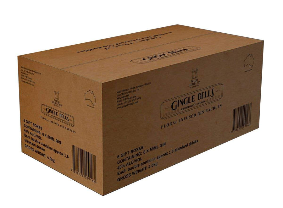 Gingle Bells Gin Baubles Shipping Carton