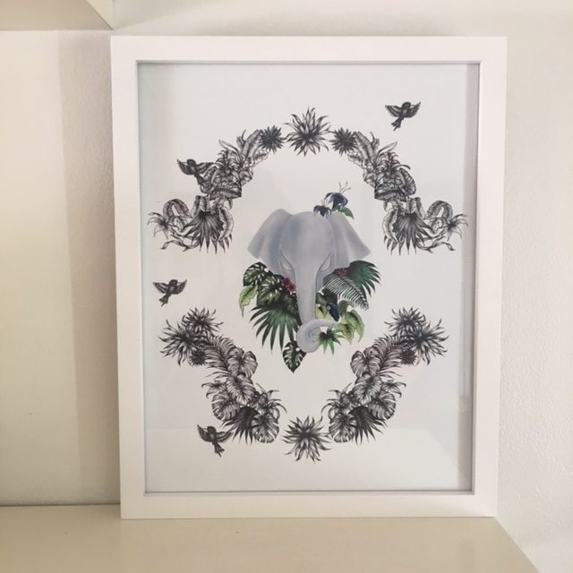 Jungle elephant print
