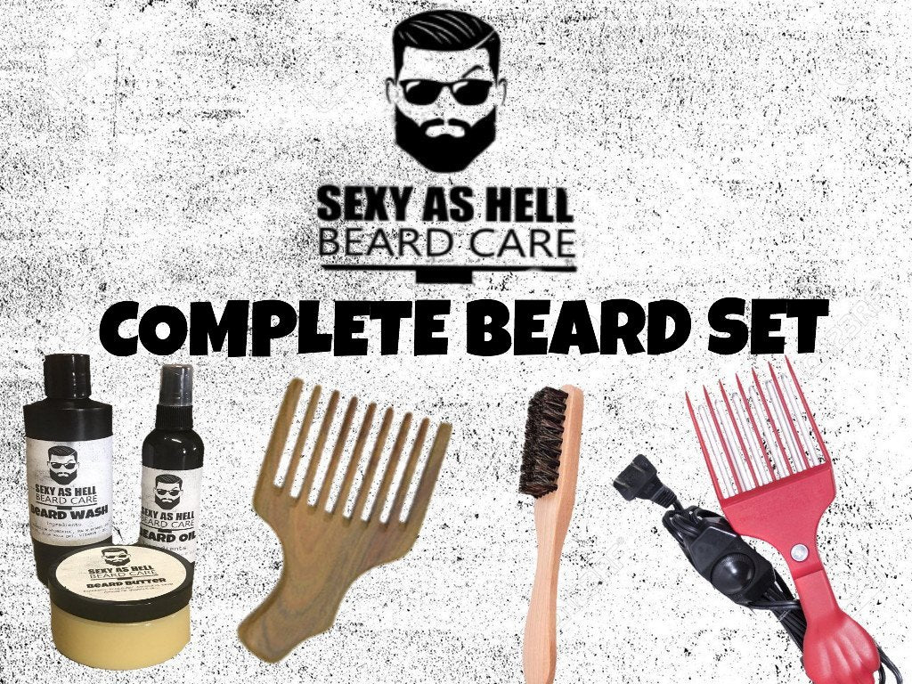 The Sexy As Hell COMPLETE Beard Set $110