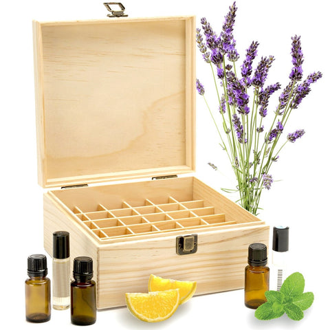Essential Oil Wooden Treasure Case-aromatherapy-Just Necessary