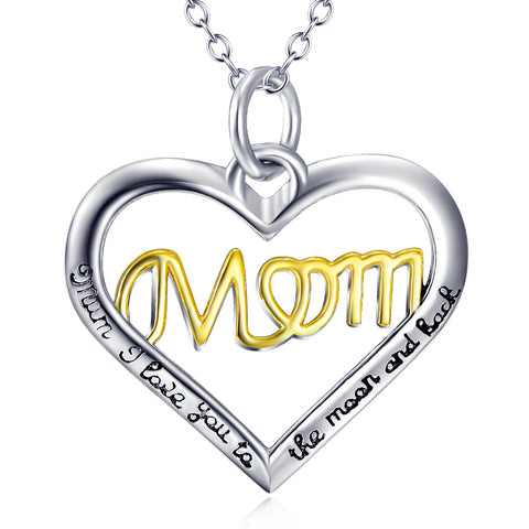 Heart Shaped For Mom Neckalce Wholesale 925 Sterling Silver Jewelry For Gifts