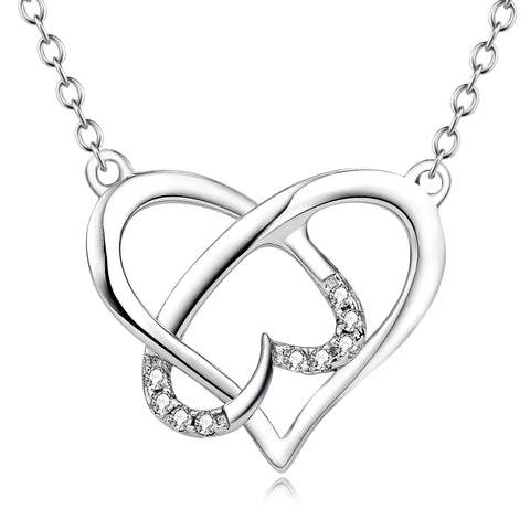 Trendy  Vintage Heart Pendant Necklace Jewelry Chains Simple Necklaces