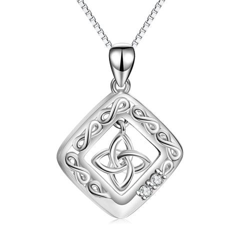 Celtic Knot Necklace Pendant 925 Sterling Silver Jewelry Necklace Wholesale
