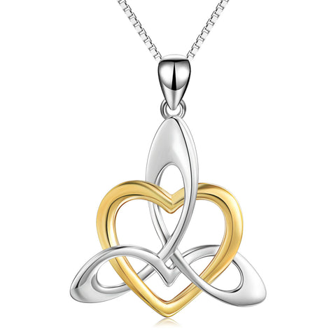 Fashionable Knot Necklace Different Color Heart Shape Chain Necklace