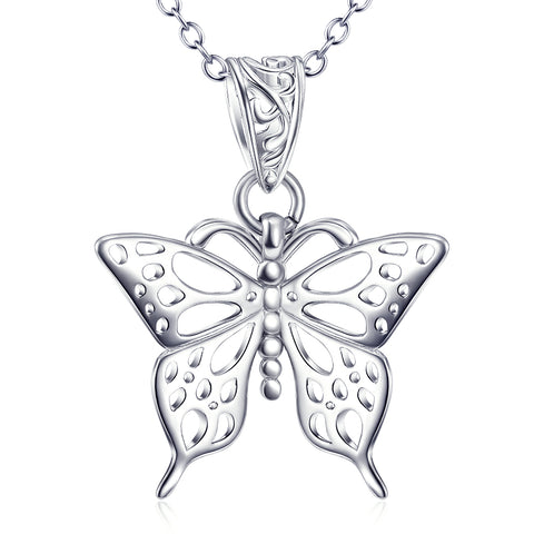 Animal Butterfly Necklace For Woman And Girls Wholesale 925 Sterling Silver Jewelry
