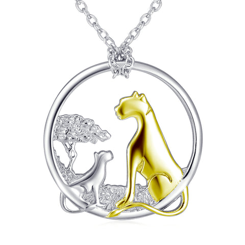 Loving Gold Plated Pendant Necklace Customed 925 Sterling Silver Jewelry For Gifts