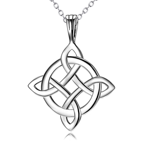 Round Angle Celtic Knot Pendant Necklace 18 In ch Chain Necklace Design