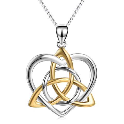Celtic Knot Gold And Silver Necklace Manufacturing Production Necklace