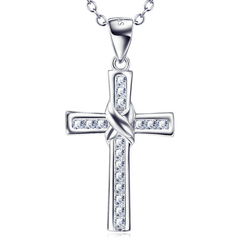 Classic Crossing Necklace Fashion Wholesale 925 Sterling Silver Jewelry For Woman And Man
