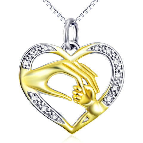 Maternal Lonve Necklace Customed 925 Sterling Silver Jewelry For Gift