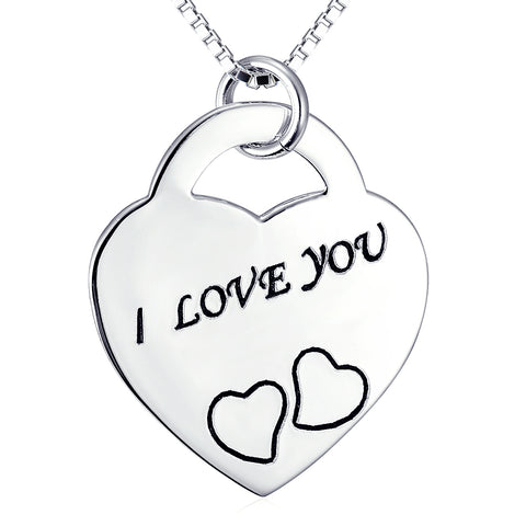 I Love You Necklace Factory 925 Sterling Silver Gifts Jewelry For Woman And Man