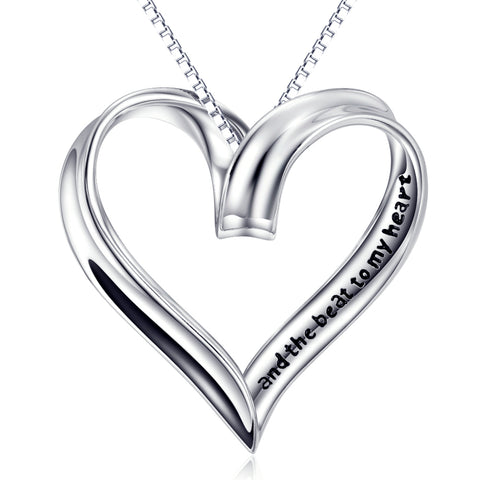 Heart Shaped Necklace Factory 925 Sterling Silver Jewelry For Lovers Gifts