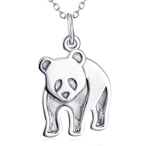 Cute Animal Panda Necklace Customed 925 Sterling Silver Jewelry For Woman And Man