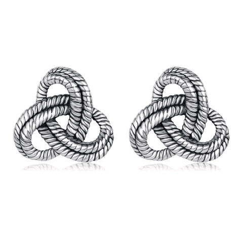 Designer Inspired  Knot Stud Earrings Elegant Fashion Women Lady