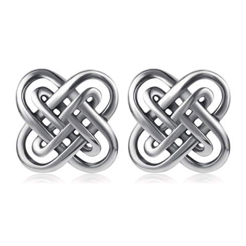 Women Jewelry Knot Wire Earrings Stud Silver Design Earrings