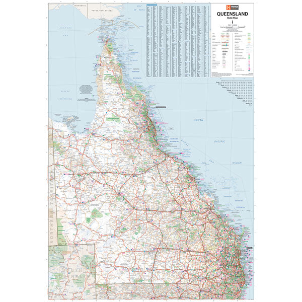 Queensland Supermap unlaminated