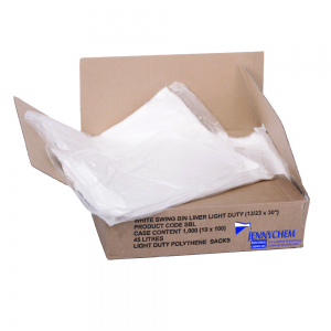 White Swing Lid Bags