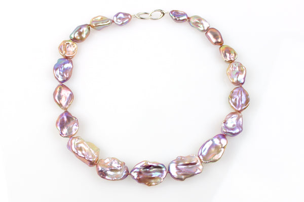 purple keshi dreamwave chinese freshwater necklace