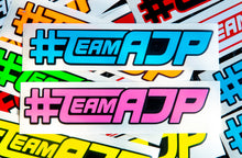 Load image into Gallery viewer, #TEAMAJP Sticker - 2 Tone - AdrenalineJunkieProd Decals - 1.5 X 8.0