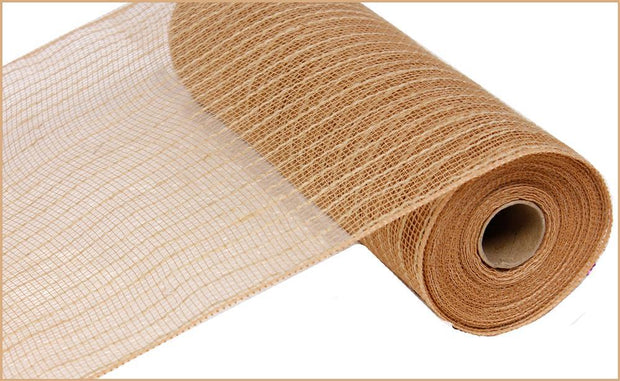 10in x 10yd - Natural Poly Jute Mesh