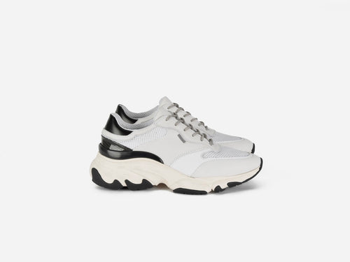 Kayo White Black leather sneakers