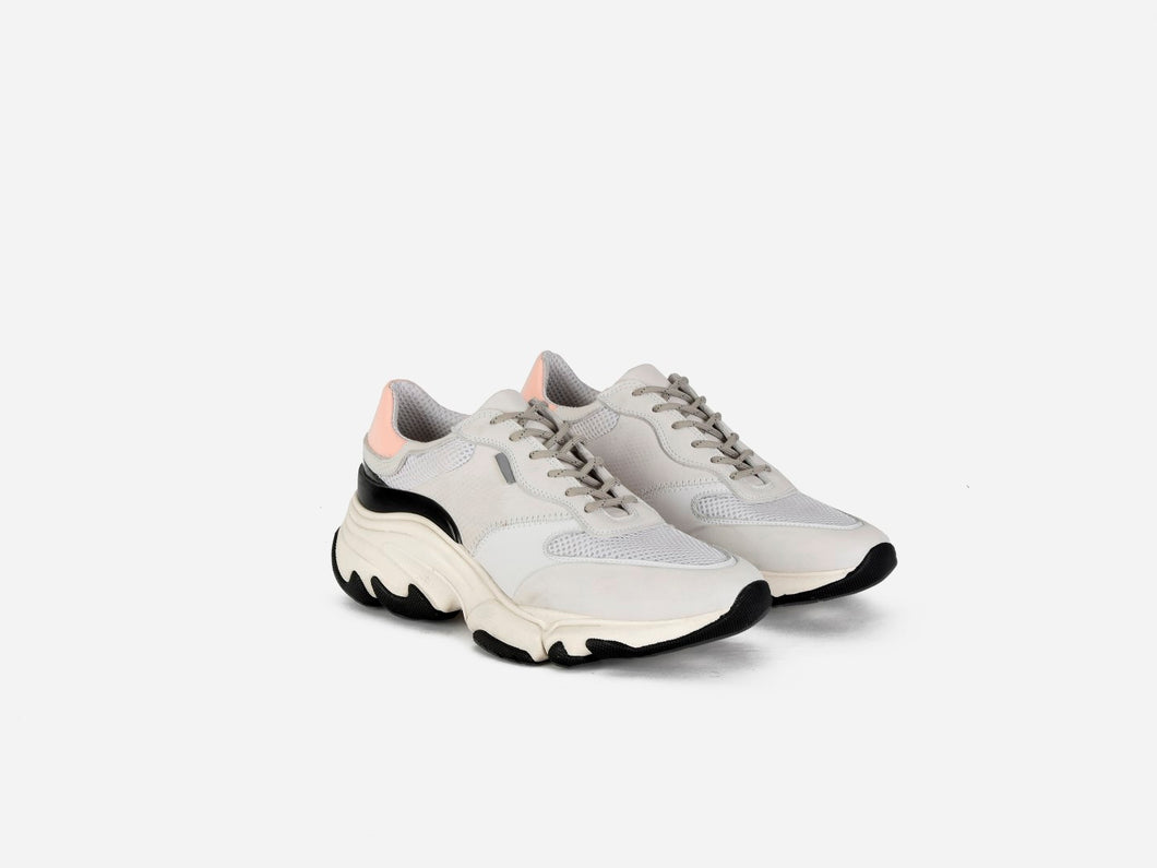 pregis kayo white pink leather runner sneakers made in portugal