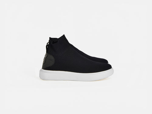 Likke Black sock cup sole sneakers
