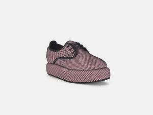 pregis tani pink mesh flatform shoes made in portugal