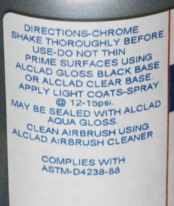Alclad ALC4107 4oz. Chrome (for Plastics) Large Bottle