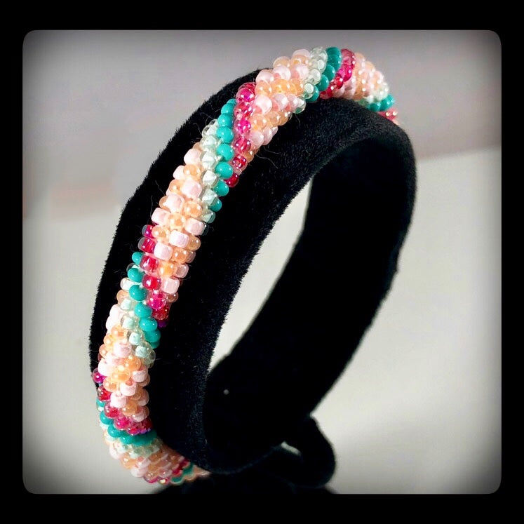 Handmade Bead Roll-on Bracelet - Tween 6""