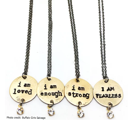 "Hand-stamped ""I Am ..."" Necklace - 18"""