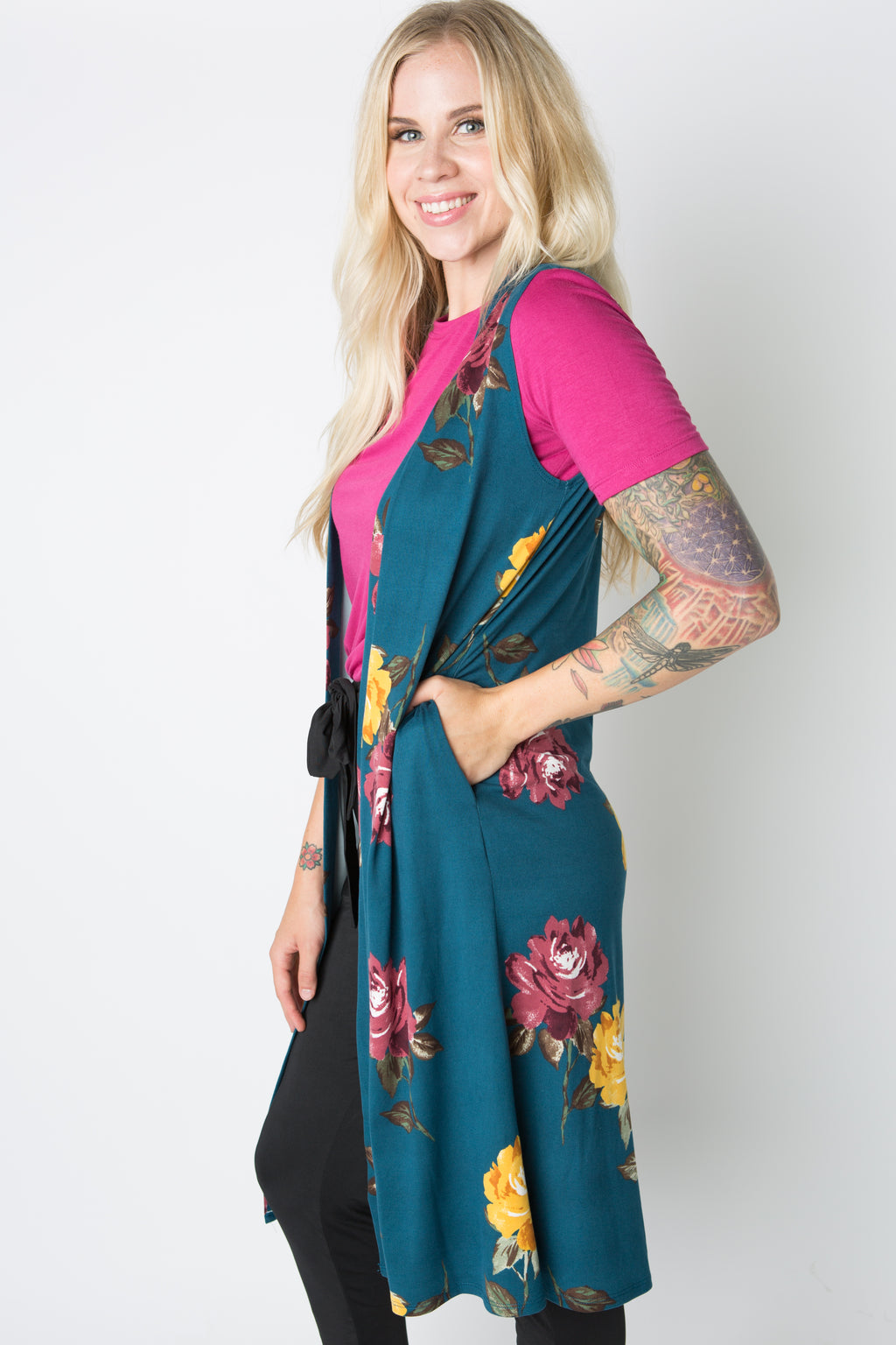 Appleton Duster (Teal Floral)