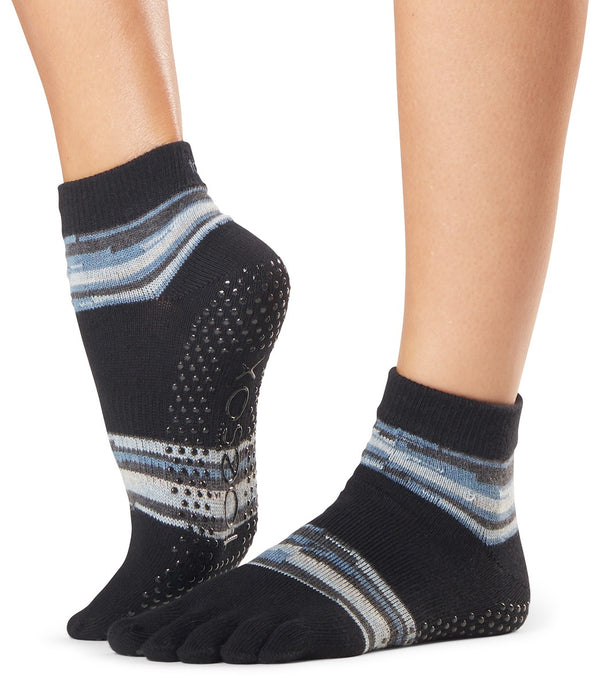 Toesox Ankle Length Full-Toe Yoga Grip Socks
