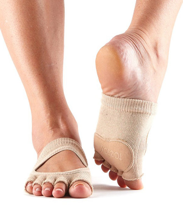 Toesox Releve Half-Toe Yoga Grip Socks