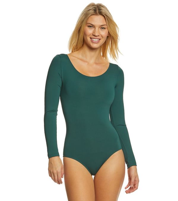 Bloch Lepsi Performance Long Sleeve Yoga & Dance Leotard