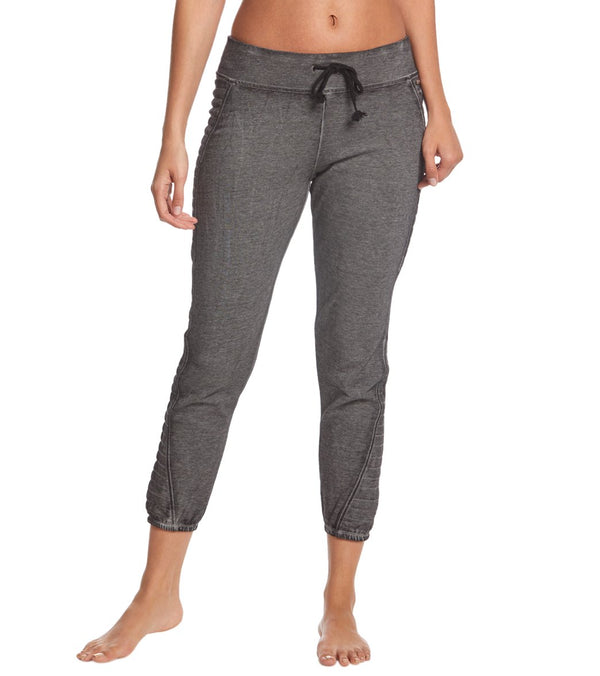 Betsey Johnson Performance Icy Fleece 7/8 Moto Sweatpants