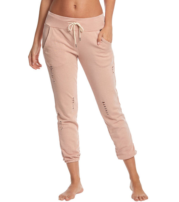 Betsey Johnson Performance Distressed Sweatpants
