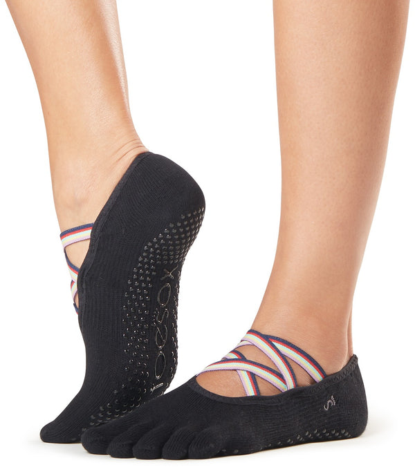 Toesox Elle Full-Toe Yoga Grip Socks