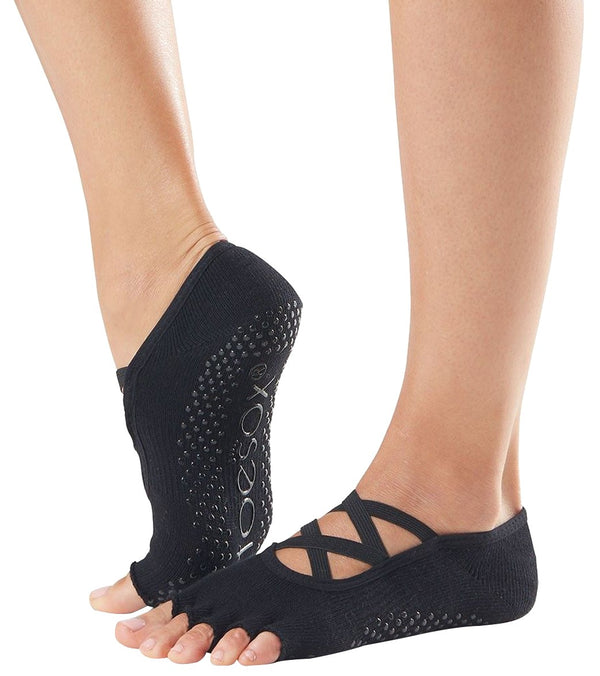 Toesox Elle Half-Toe Yoga Grip Socks