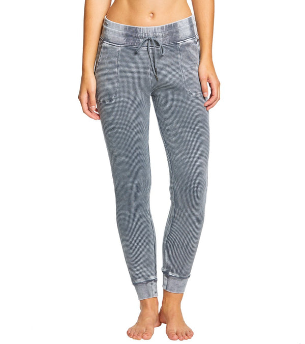 Betsey Johnson Performance Bleach Wash Waffle Joggers