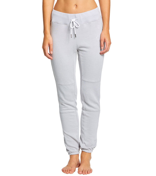 Betsey Johnson Performance Distressed Wash Star Embroidery Joggers